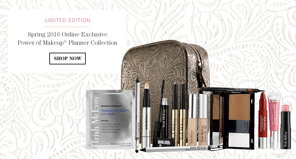SHOP NOW, Spring 2016 Online Exclusive Power of Makeup® Planner Collection
