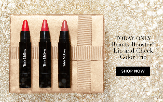 SHOP NOW Today Only! Limited Edition Beauty Booster® Lip & Cheek Color Trio